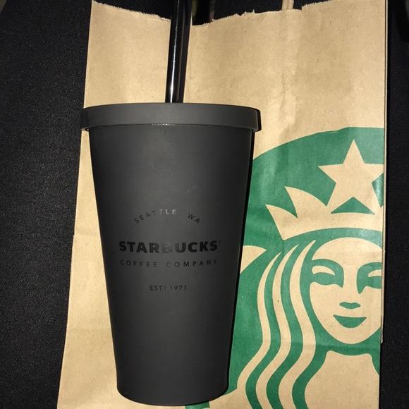 4e9bdedc9c4 Black Matte Starbucks Cold Cup NWT